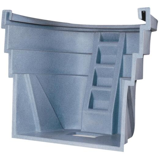 Wellcraft 60 In. x 48 In. Egress UV-Protected Polyethylene Granite Grey Window Well
