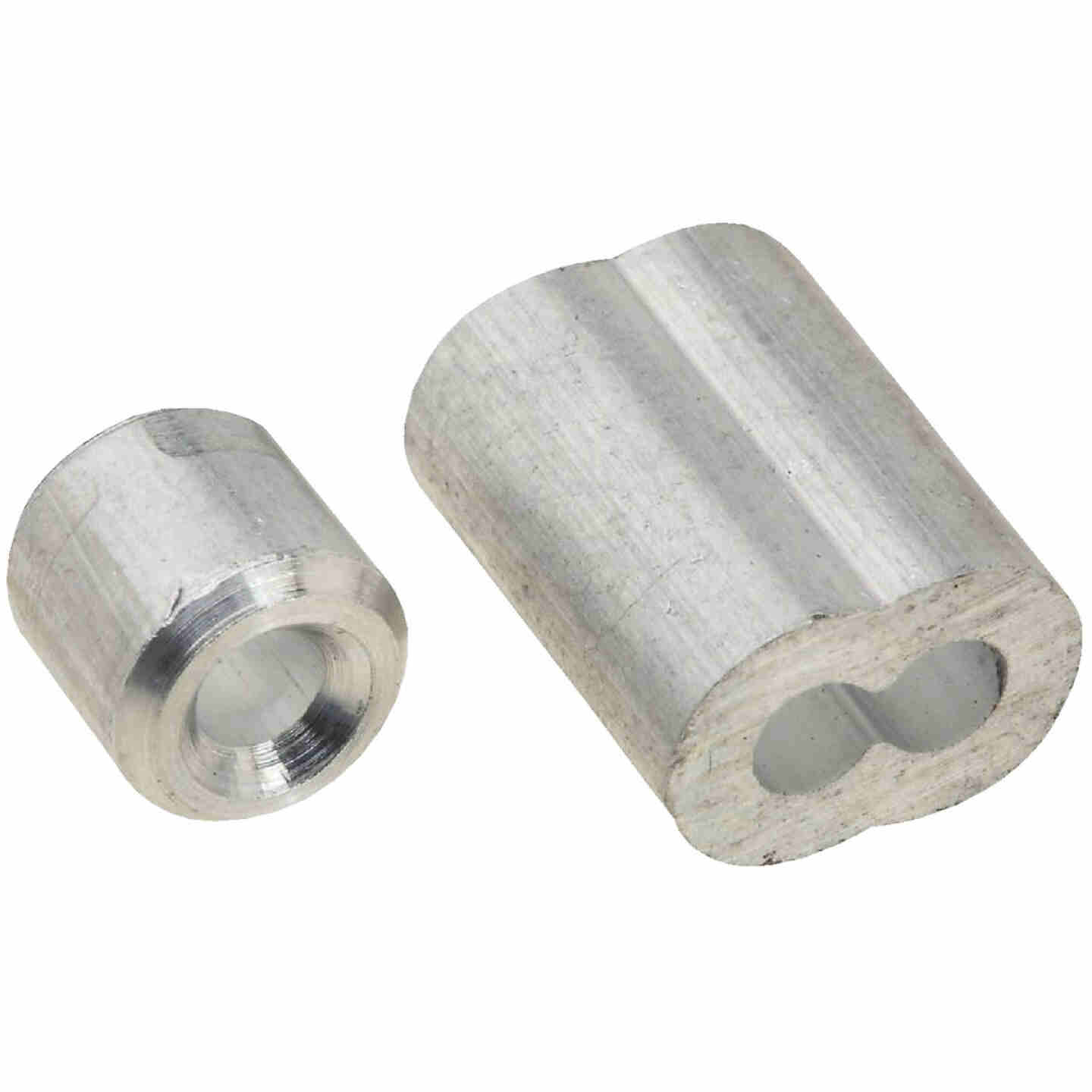 "Prime-Line Cable Ferrules and Stops, 1/8"", Aluminum Image 1"