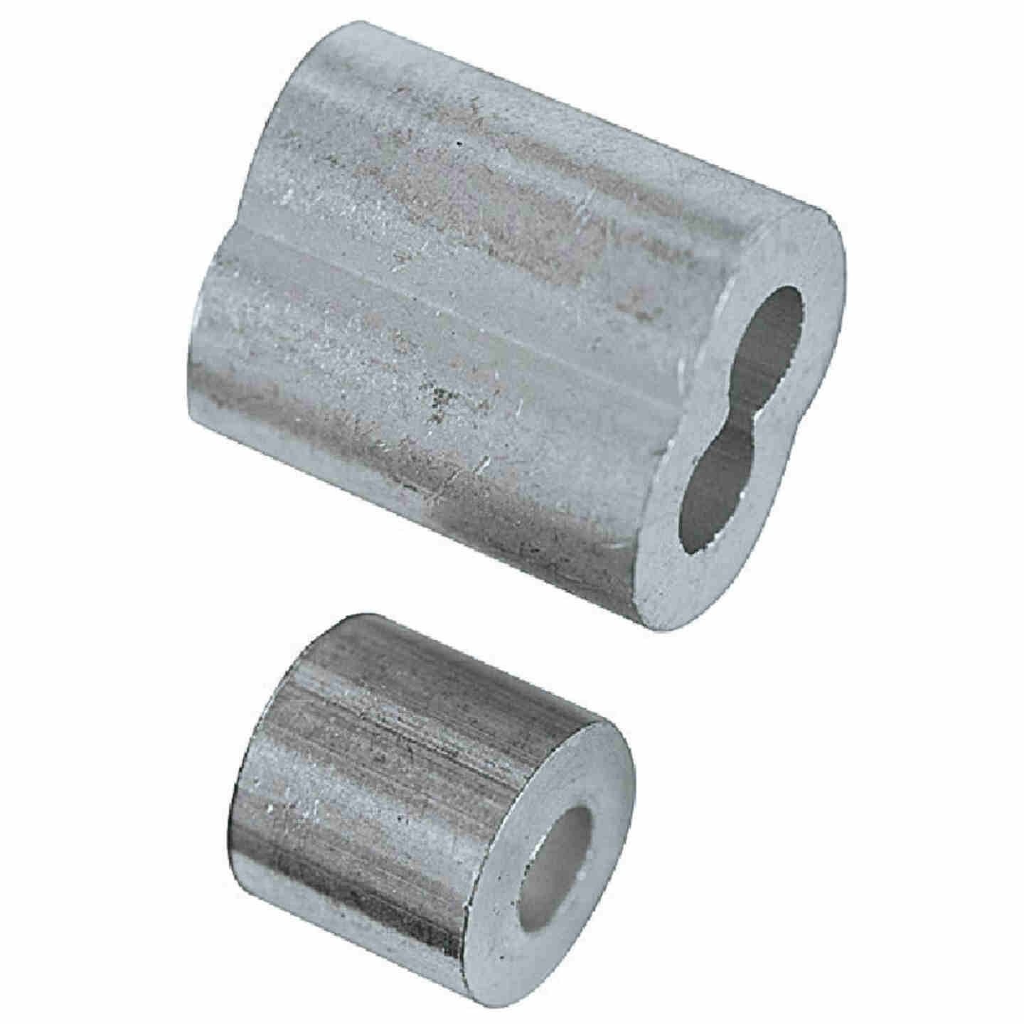 "Prime-Line Cable Ferrules and Stops, 1/8"", Aluminum Image 2"