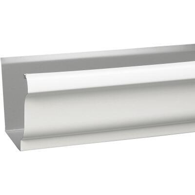 Amerimax 5 In. x 10 Ft. K-Style White Galvanized Steel Gutter