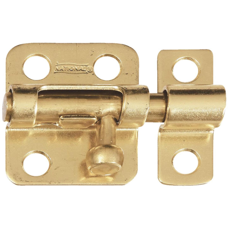 National 2 In. Solid Brass Door Barrel Bolt Image 1