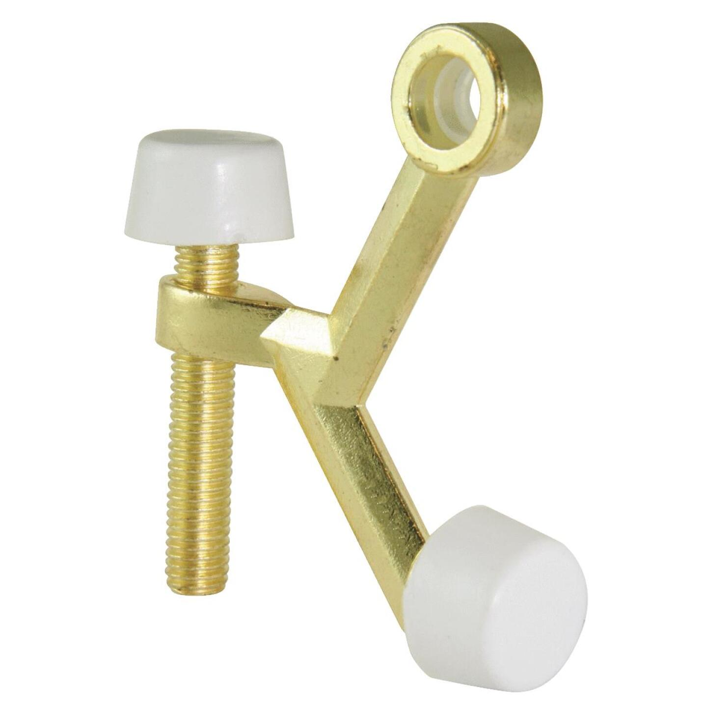 Ultra Hardware 3 In. Polished Brass Hinge Pin Door Stop Image 1