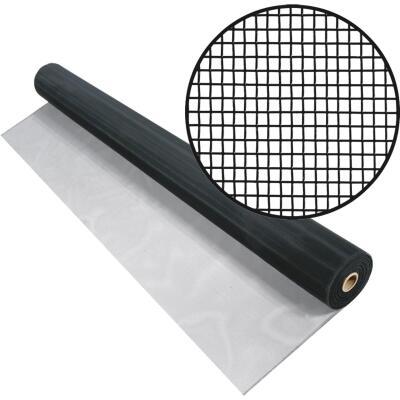 Phifer 24 In. x 100 Ft. Black Aluminum Screen