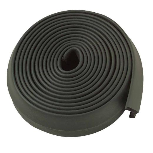 M-D 2 In. x 16 Ft. Black Rubber Bottom Garage Door Seal