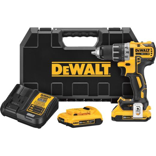 DeWalt 20 Volt MAX XR Lithium-Ion Brushless 1/2 In. Cordless Drill Kit