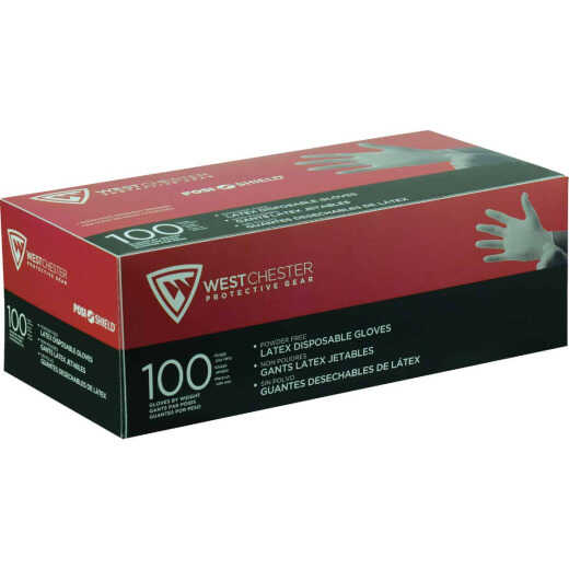 West Chester Protective Gear Posi Shield XL Industrial Grade Latex Disposable Glove (100-Pack)