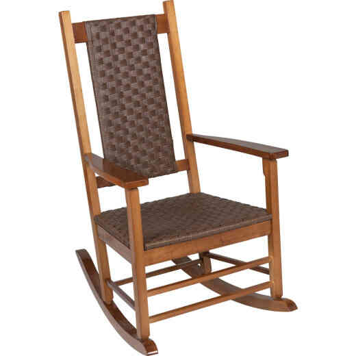 Jack Post Knollwood Natural Wood Woven Rocking Chair
